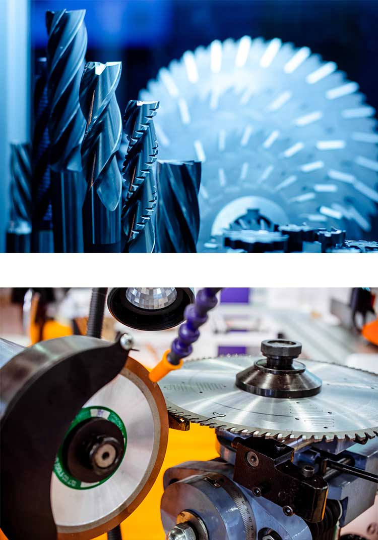 Industrial cutting tool sharpening services